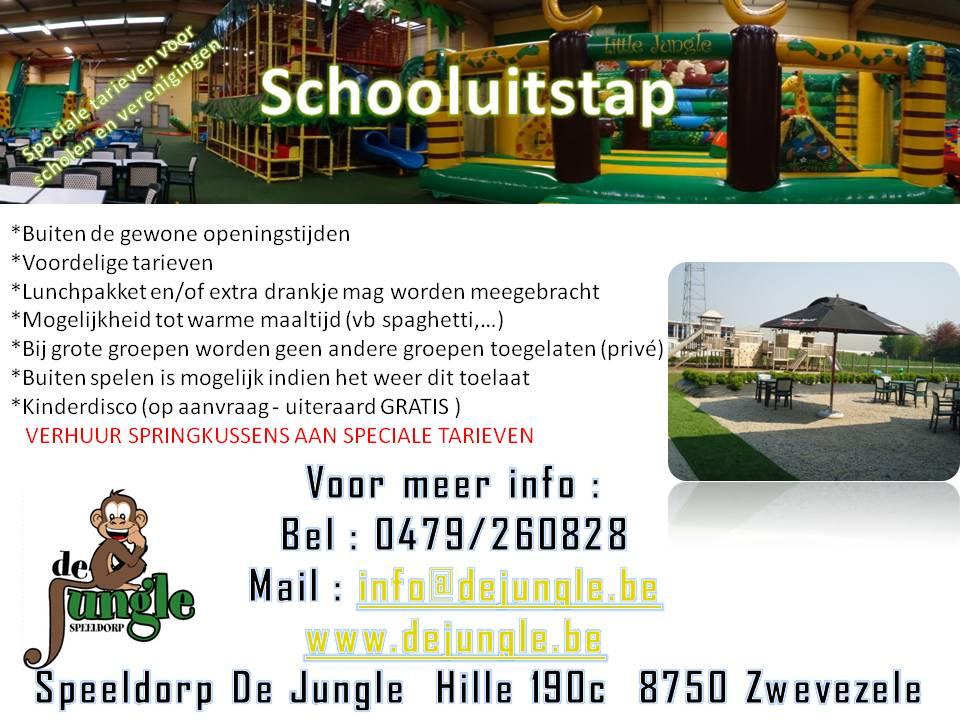 Schooluitstap / schoolreis binnenspeeltuin buitenspeeltuin